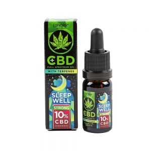 Euphoria CBD 10% Sleep Well z terpenami 10 ml