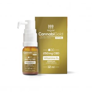 CannabiGold Vital 250 mg CBD + Witamina D3 (2000 j.m.) 12 ml
