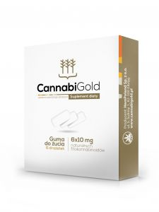 CannabiGold Guma do żucia z CBD