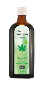 Olej konopny z oregano 250 ml